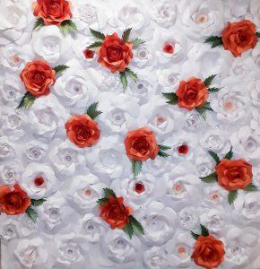 Papír virág, virágfalak, virág fal